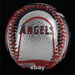 RARE Nolan Ryan Signed Angels Logo Baseball With Display Case PSA COA Graded 10