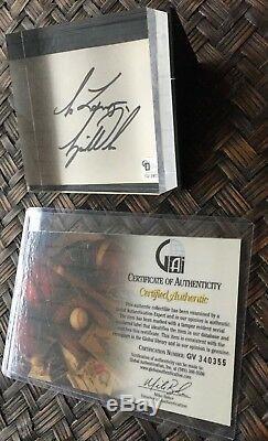 RARE TIGER WOODS SIGNED 1995 CARD In Display Case GAI COA PGA LegendAuthentic