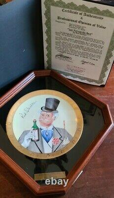 Red Skelton Plate San Fernando Red In Display Case With Coa 251/1,000