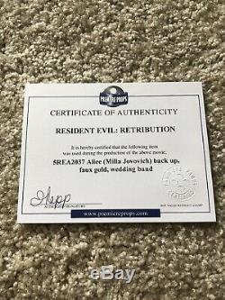 Resident Evil Retribution Alice Milla Jovovich Wedding Band Display Case COA
