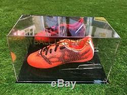 Riyad Mahrez Signed Football Boot Manchester City Algeria In Display Case COA