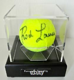 Rod Laver Signed Autograph Tennis Ball Display Case Memorabilia Sport & COA