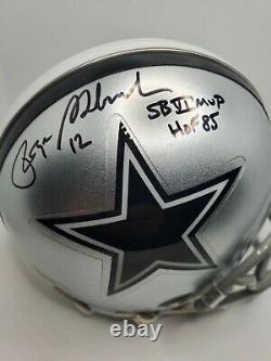Roger Staubach Signed Autographed Dallas Cowboy Mini Helmet withCOA & Display Case