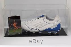 Ronald Koeman Signed Autograph Football Boot Display Case Barcelona COA