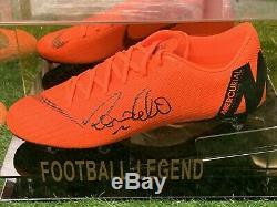 Ronaldo De Lima Signed Football Boot Real Madrid Brazil In A Display Case COA