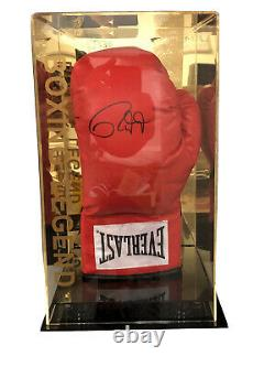 Roy Jones Jr Signed Boxing Glove with Display Case COA