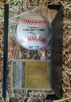 SIGNED DEC LA DODGERS TOMMY TOM LASORDA NEW MLB BASEBALL WithCARD DISPLAY CASE COA
