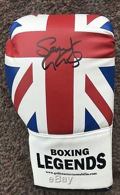 Saint George Groves Hand Signed Boxing Glove IN A LEGENDS DISPLAY CASE Coa AFTAL
