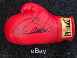 Saúl Canelo Álvarez Signed Boxing Glove in A Display Case COA Rare AFTAL