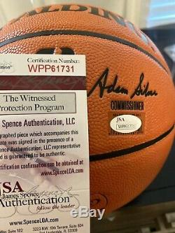 Shaquille O'Neal Signed Basketball JSA COA With Display Case