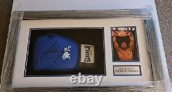 Signed Anthony Joshua Boxing Glove In Display Case With COA
