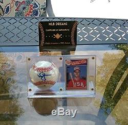 Signed Cardinals A's Mark Mcgwire Auto Baseball Display Case & USA Rc Proof Coa