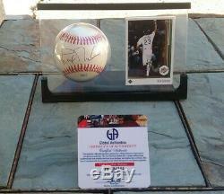 Signed Dodgers Kirk Gibson Baseball & Card Display Case 88 Ws Hero Proof Gai Coa