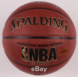 Signed Larry Bird & Bill Russell NBA Basketball with Display Case (Schwartz COA)