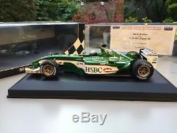 Signed Mark Webber Formula 1 JAGUAR RACING R4 118 Boxed & Display Case & COA