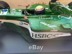 Signed Mark Webber JAGUAR RACING R4 F1 MINICHAMPS 118 Boxed /Display Case/ COA