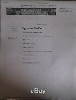 Stan Lee Signed Incredible Hulk Hand Glove Fist Custom Display Case With Coa