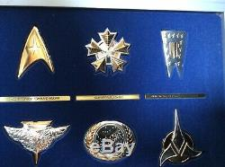 Star Trek Insignia Collection (12 Pcs) With Display Case COAs