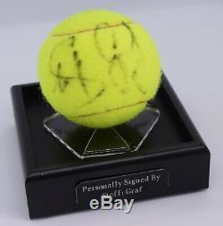 Steffi Graf Signed Autograph Tennis Ball Display Case Wimbledon AFTAL COA