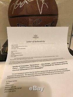 Stephen Curry & Kevin Durant autograph Basketball with new display case and COA