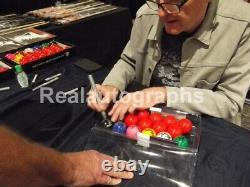 Steve Davis Hand Signed Black Snooker Ball In Display Case AFTAL Coa Proof