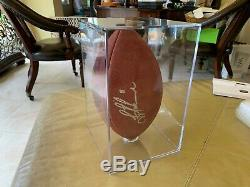 TROY AIKMAN SIGNED OFFICIAL SB XXVII FOOTBALL AUTOGRAPHED with COA & Display Case