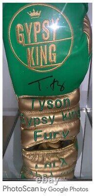 TYSON FURY SIGNED LTD EDIT GLOVE IN SUPERB GLASS DISPLAY CASE COA £240 Delivered