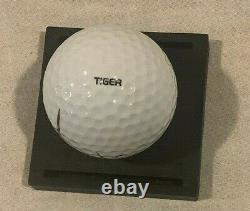 Tiger Woods Auto Signed Nike Golf Ball 2001 Masters Champ with COA Display Case