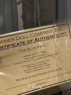 Tonner Disney Blue Fairy 16 Pinocchio doll with display case, COA, & original box