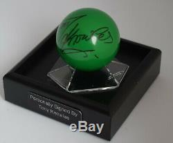 Tony Knowles Signed Autograph Snooker Ball Display Case Sport AFTAL COA