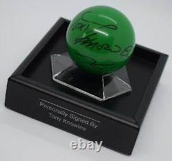 Tony Knowles Signed Autograph Snooker Ball Display Case Sport AFTAL & COA