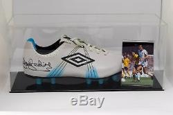 Trevor Brooking Signed Autograph Football Boot Display Case West Ham AFTAL COA
