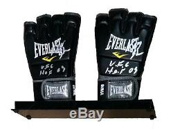 Ufc Mma Ken Shamrock Hand Signed Autographed Gloves In Display Case With Coa