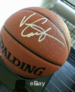 Vince Carter Signed Basketball With COA & Display Case
