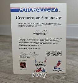 WAYNE GRETZKY Signed Fotoball Portrait Hockey Puck /1851 with COA & Display Case