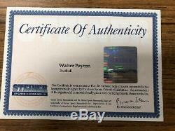 Walter Payton signed autograph football Steiner COA with UV display case