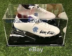 Walter Smith Signed Football Boot Rangers Legend Display Case AFTAL COA
