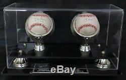 Yogi Berra Don Larsen Dual Perfect Game Signed Baseball with Display Case DJR COA