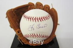 Yogi Berra New York Yankees signed ROMLB baseball withDisplay case CAS COA