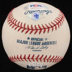 Yogi Berra Signed OML Baseball with Display Case (PSA COA) NO RESERVE