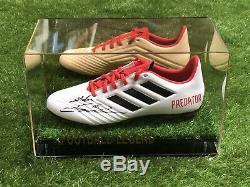 Zinedine Zidane Signed Football Boot Real Madrid France Display Case COA