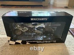 1/12 Minichamps Signé James Toseland Wsb 2007 Avec L'aco Et Le Boîtier D'affichage