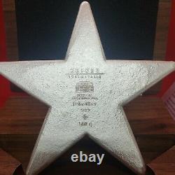 1/2 Kilo Geiger Star Avec Affichage De Boîtier En Bois Et Coa 500grams. 999
