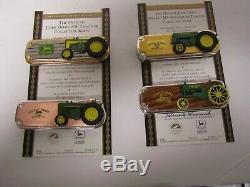 12 Couteaux De Collection Franklin Mint John Deere Diff Avec 2 Présentoirs 10 Coa