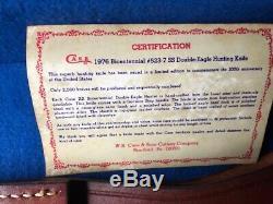 1976 Couteau Bowie Cas Bicentenaire Aigle Coa, Étui En Cuir, Et Boîte D'affichage