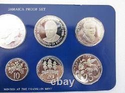 1984 Jamaica Proof Set Avec L'affichage Case Et L'aco