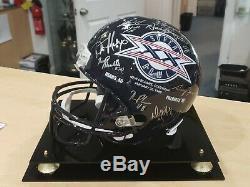 1985 Super Bowl Chicago Bears Signés Casque De Football Avec Coa + Cas D'affichage