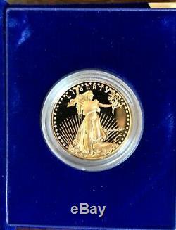 1986 American Eagle Or $ 50 1 Oz. Preuve Us Mint Case Afficher Cas Et Coa Mib