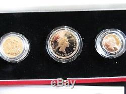 1986 United Kingdom Gold Proof Set Avec Étui D'affichage Et Certificat D'authenticité