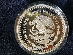 1987 Mexique En Argent Épreuve Numismatique Libertad (onza) Avec Affichage De Cas, Coa Et Manches